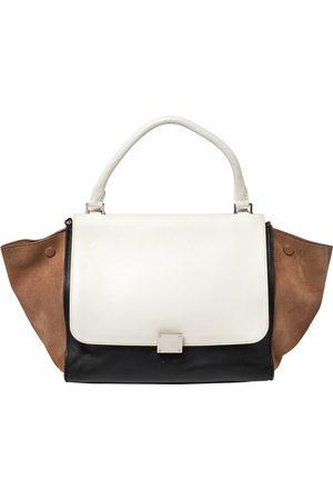 Céline Tri Color Leather and Suede Medium Trapeze Bag