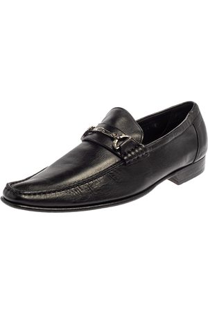Dolce & Gabbana Dolce and Gabanna Black Leather Bit Slip On Loafers Size 42