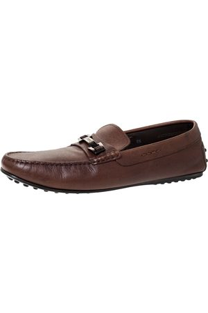 Tod's Brown Leather Slip On Loafers Size 42.5