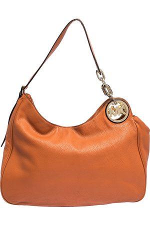 Michael Kors Orange Leather Fulton Hobo