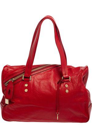 DandG D&G Red Leather Katri Satchel