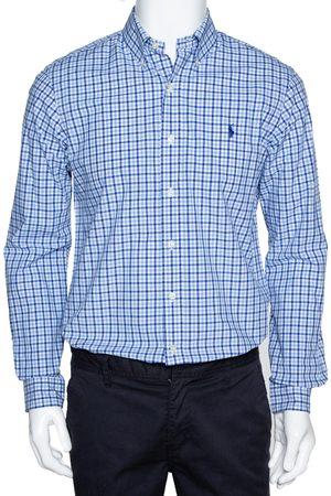 Ralph Lauren Blue Gingham Check Cotton Long Sleeve Shirt M