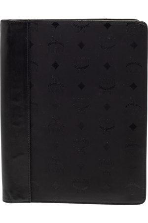 MCM Black Visetos Nylon and Leather Agenda Cover