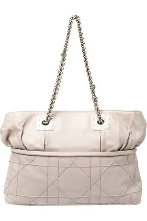 Dior Light Grey Cannage Leather Granville Chain Link Tote