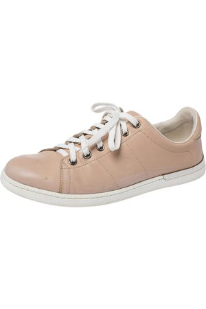 Gucci Beige Low Top Lace Sneakers Size 37.5