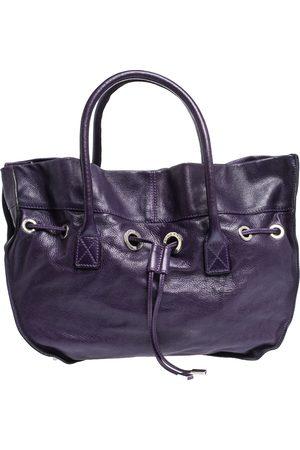 Sonia by Sonia Rykiel Purple Leather Drawstring Tote