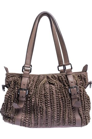 Burberry Old Rose Ruffled Leather Lowry Tote