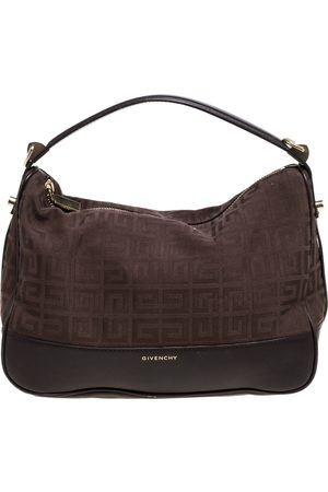 Givenchy Brown Signature Canvas and Leather Hobo