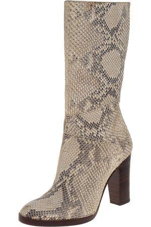 Chloé Chloé Two Tone Python Knee High Adelie Boots Size 35