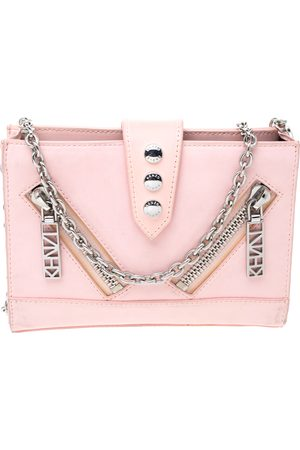 Kenzo Light Pink Leather Kalifornia Chain Shoulder Bag