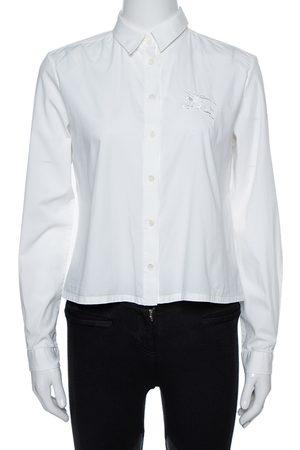 Burberry Brit White Cotton Long Sleeve Shirt M