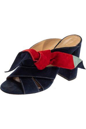 Chloé Multicolor Suede Naille Bow Sandals Size 38.5