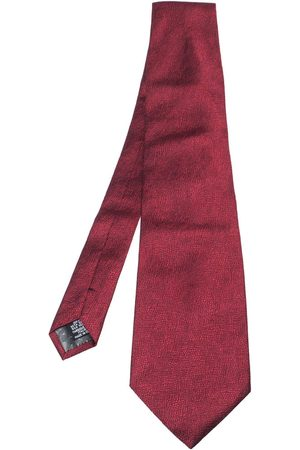Gianfranco Ferré Red Jacquard Silk Traditional Tie