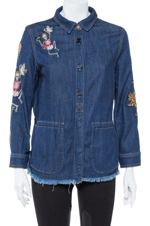 Zadig & Voltaire Zadig & Voltaire Blue Embroidered Denim Tackl Shirt XS