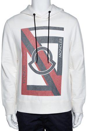 Moncler White Knit Genius X Craig Green Logo Print Hoodie L