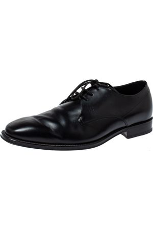 Tod's Black Leather Lace Up Oxfords Size 42
