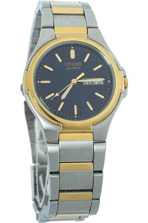 Citizen Blue Two Tone Stainless Steel S071887 Unisex Wristwatch 36mm