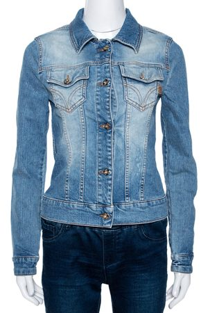 DandG D&G Blue Medium Washed Denim Button Front Jacket M