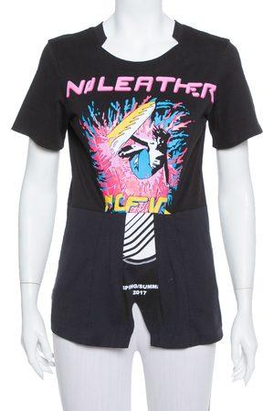 Stella McCartney Black Printed Cotton Paneled Laurel T Shirt XS