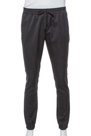 Saint Laurent Black Wool Joggers M