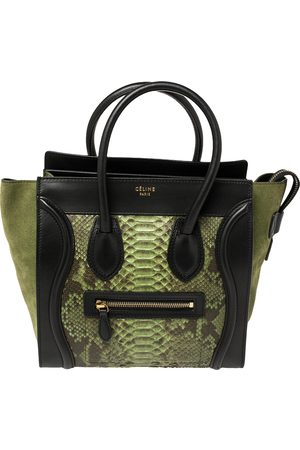 Céline Tri Color Python, Leather and Suede Micro Luggage Tote