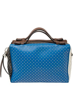 Tod's Multicolour Leather Mini Gommino Studded Bowling Bag