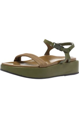 Prada Two-Tone Nylon And Leather Velcro Slingback Platform Sandals Size 39.5