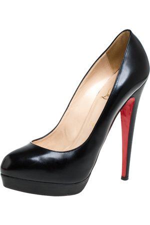 Christian Louboutin Black Leather Bianca Platform Pumps Size 39.5