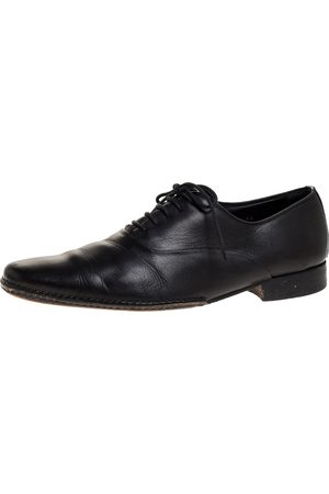 Armani Black Leather Lace Up Oxford Size 44