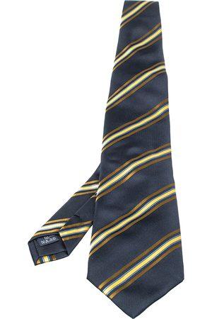 Burberry Vintage Navy Blue Striped Silk Tie