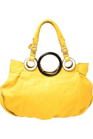 Gianfranco Ferré Mustard Soft Leather Ring Handle Shoulder Bag