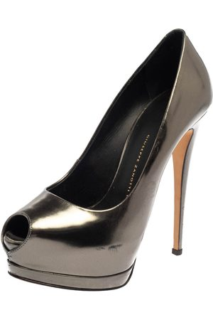 Giuseppe Zanotti Metallic Leather Platform Pumps Size 37