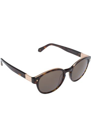 Roberto Cavalli Brown Havana/ Green RC956S Round Sunglasses