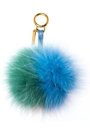 Fendi Multicolor Fox Fur Pom Pom Bag Charm