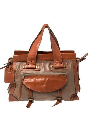 Chloé Brown/Tan Leather Zip Satchel