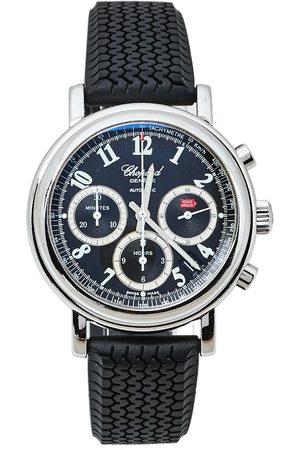 Chopard Black Stainless Steel Rubber Mille Miglia 8331 Men's Wristwatch 39 mm