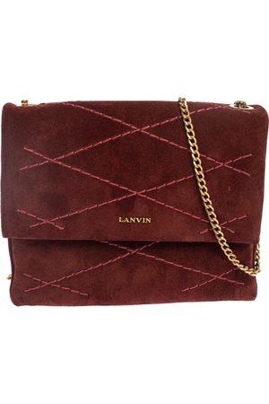 Lanvin Burgundy Suede Mini Sugar Shoulder Bag