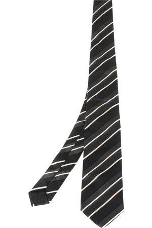 HUGO BOSS Black Striped Silk Tie