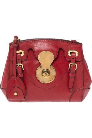 Ralph Lauren Red Leather Ricky Crossbody Bag