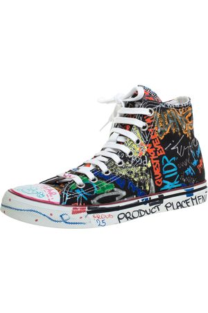 Vetements Black Graffiti Canvas High Top Sneakers Size 41