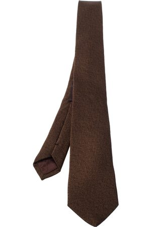 Etro Brown Cotton Silk Narrow Tie