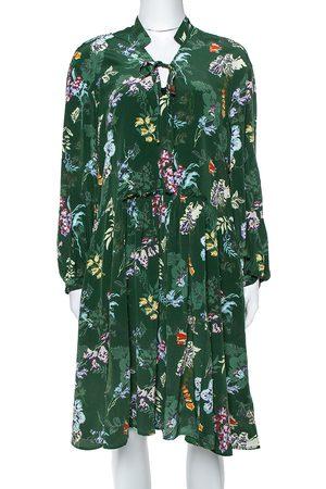 Zadig & Voltaire Zadig & Voltaire Green Resist Season Print Silk Long Sleeve Dress M