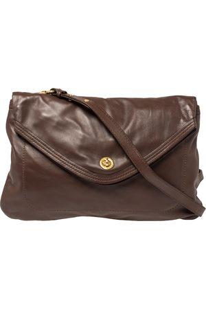 Marc Jacobs Brown Leather Flap Shoulder Bag