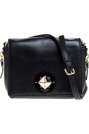Kate Spade Black Leather Flap Crossbody Bag