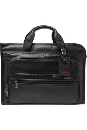 Tumi Black Leather Gen 4.2 Slim Deluxe Portfolio Bag