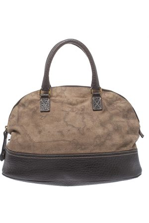 ALVIERO MARTINI 1A CLASSE Brown Fabric and Leather Satchel
