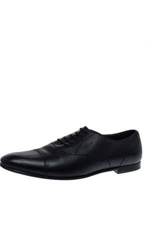 Gucci Black Leather Lace Up Oxfords Size 43