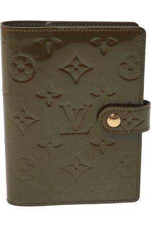 LOUIS VUITTON Vert Olive Monogram Vernis Leather Small Ring Agenda Cover