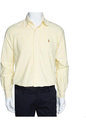 Ralph Lauren Light Yellow Striped Cotton Long Sleeve Shirt M