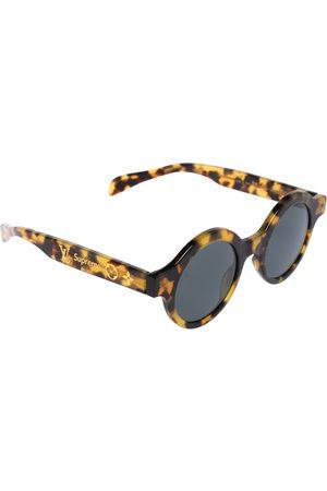 LOUIS VUITTON X Supreme Havana Brown / Grey Z0990W Downtown Round Sunglasses